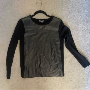 VINCE LEATHER TOP